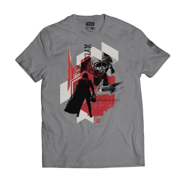 Camiseta gris Star Wars Kylo Ren