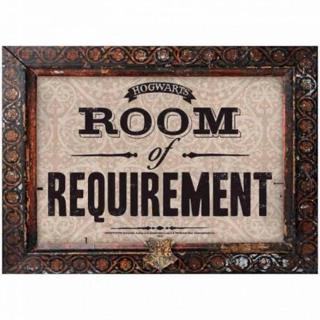 Placa Harry Potter. Room of Requeriment
