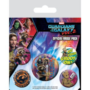 Pack Chapas Marvel Guardians of the Galaxy Vol2 Rocket and Groot