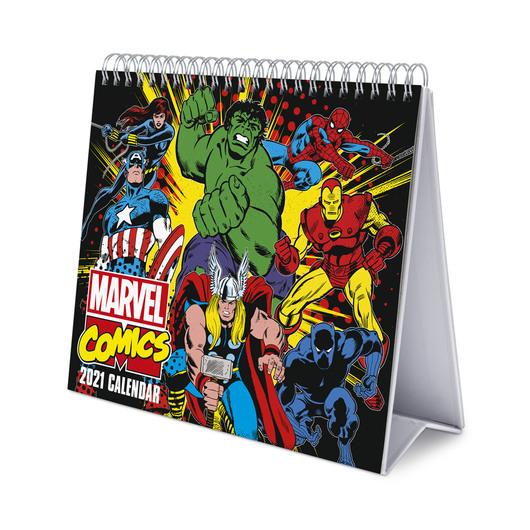 Calendario de escritorio Deluxe 2021 Marvel Comics